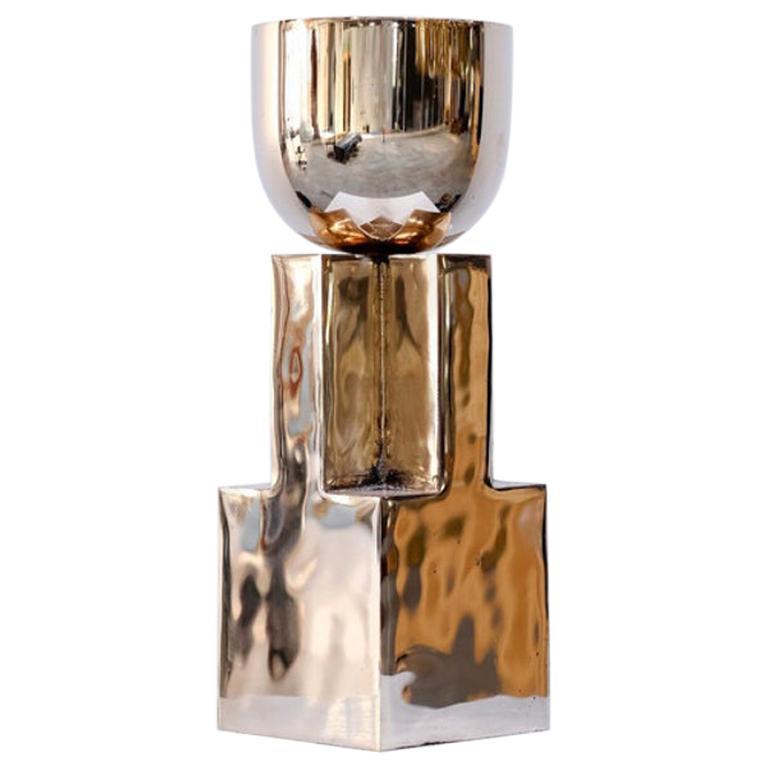 Bronze Goblet Bowl, Signed Arno Declercq
