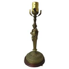 Bronze Goddess Lamp