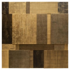Bronze, Gold Leaf and Mixed-Media Mural Composition No. 2 by Pierre Bonnefille