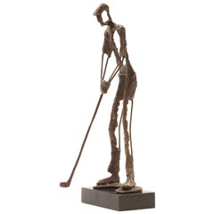 Bronze Golfing Sculpture