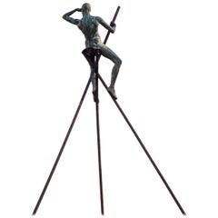 Bronze Grande Guetteur by Nicolas Lavarenne, 1992