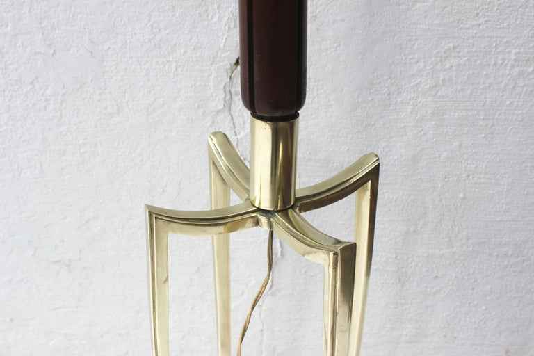 Bronze Grasshopper Floor Lamp In Good Condition For Sale In East Hampton, NY