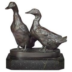 Bronze Group of Ducks, by Willy Zugel 'German, 1876-1950'