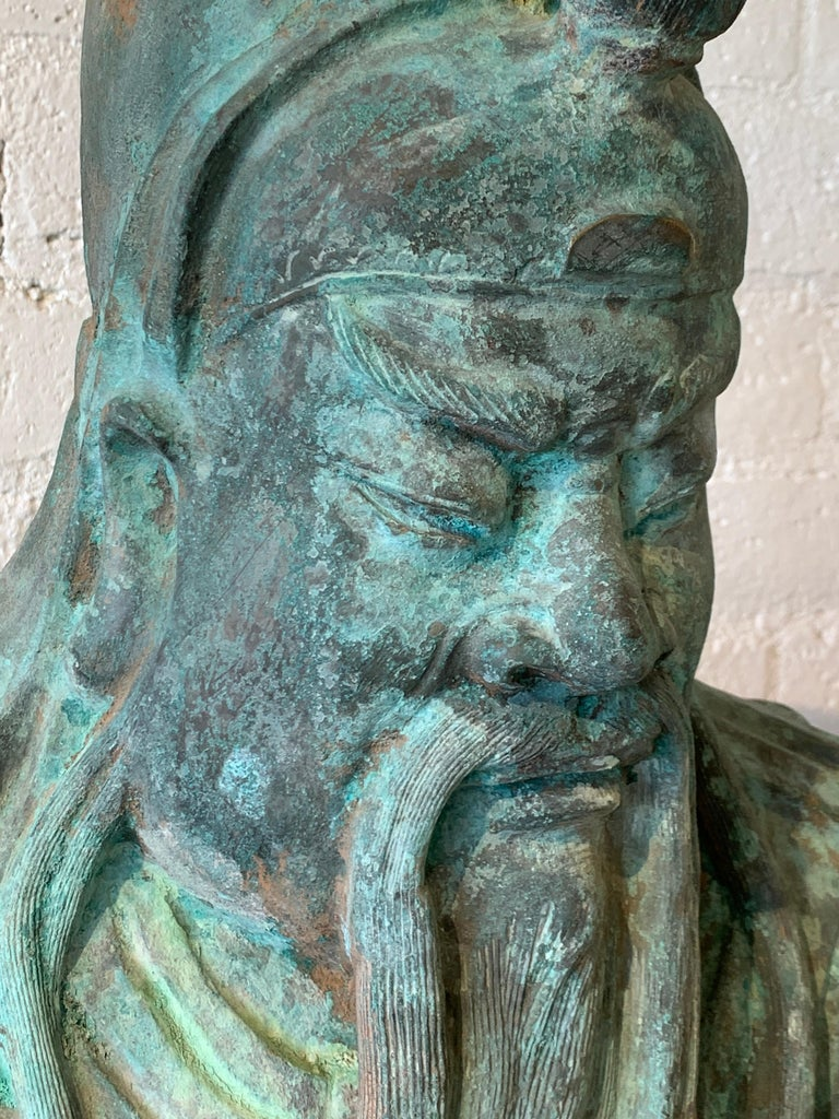 20th Century Bronze Guan Yu For Sale
