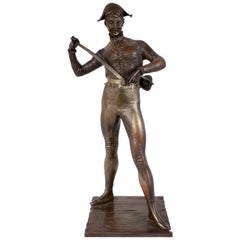 Bronze Harlequin by Dubois, France, circa 1880