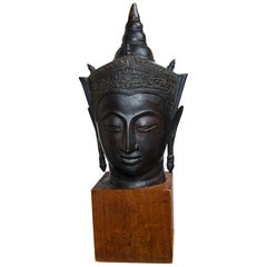 Bronze Head of a Buddha