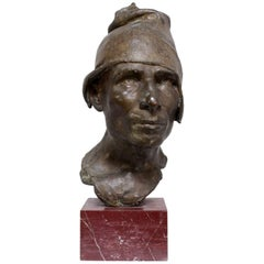 Bronze Head of Fisherman by D'Orsi