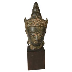Bronze Head of the Buddha, 17th Century Thailand