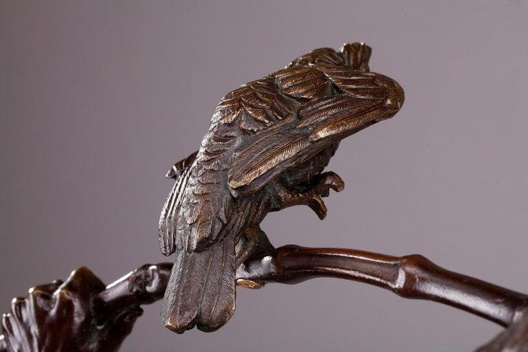 Bronze Hindu Bird-Catcher by Auguste de Wever 'Belgian, 1836-1910' For Sale 9