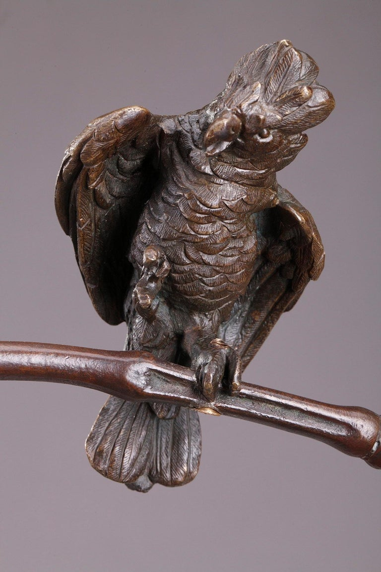 Bronze Hindu Bird-Catcher by Auguste de Wever 'Belgian, 1836-1910' For Sale 12
