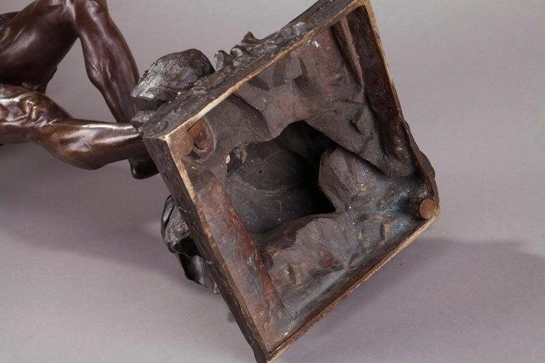 Bronze Hindu Bird-Catcher by Auguste de Wever 'Belgian, 1836-1910' For Sale 13