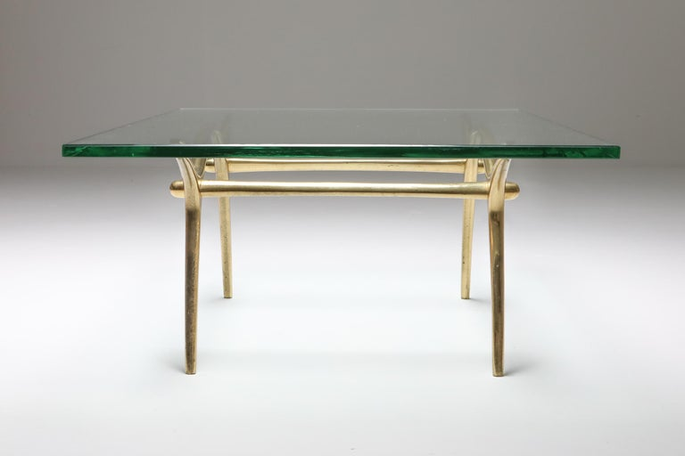 Late 20th Century Bronze Hollywood Regency Coffee Table by Kouloufi For Sale