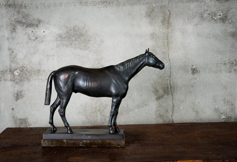 Bronze Horse Sculpture by H. Schievelkamp In Excellent Condition For Sale In Los Angeles, CA