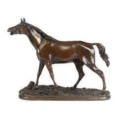 Bronze Horse Sculpture by Mene, 1856