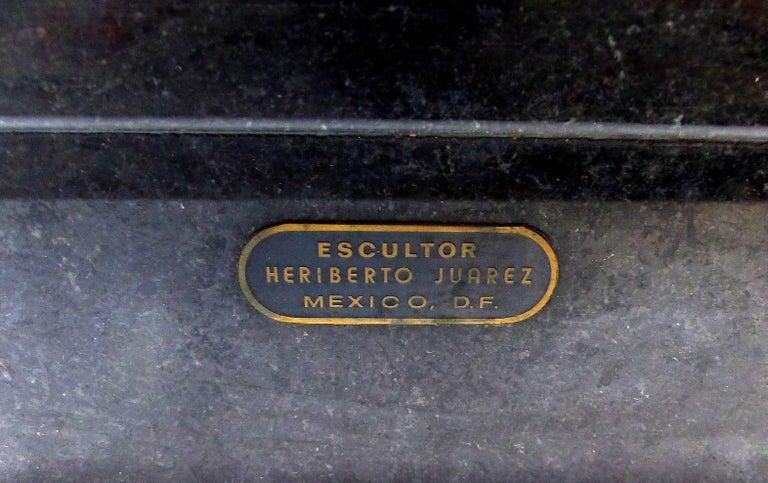 Bronze Horse Sculpture by the Mexican Artist Heriberto Jaurez For Sale 7