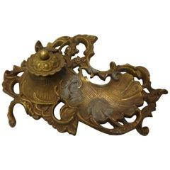 Bronze Ink Well Art Nouveau