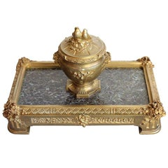 "Bronze Inkwell by ""Barbedienne"" Paris"