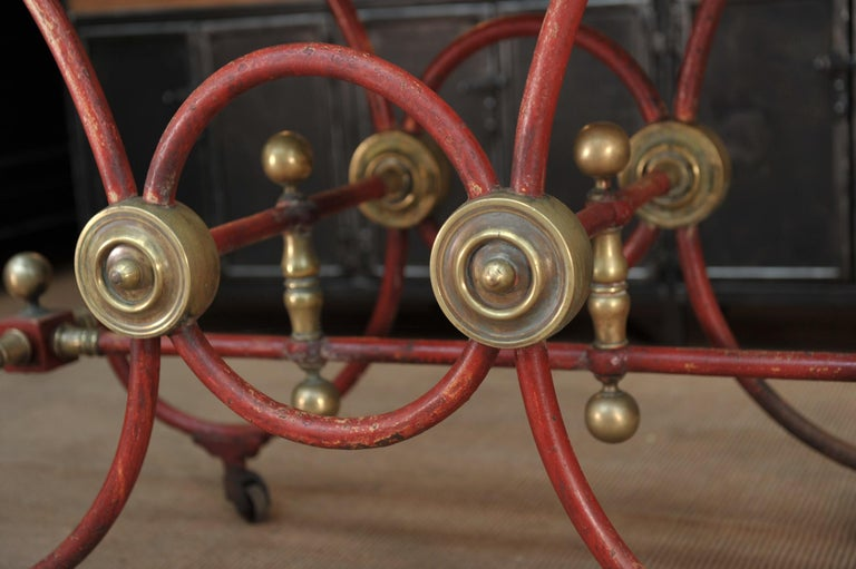 Bronze Iron and Marble Butcher's Table circa 1900 For Sale 4