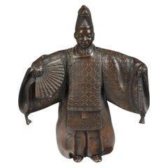 Bronze Japanese Kabuki Actor
