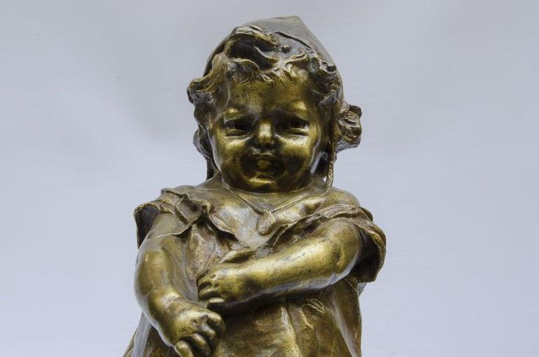 Art Deco Bronze Juan Clara, Foundry Goldscheider For Sale
