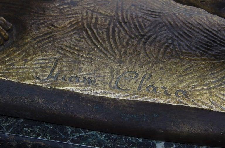 Bronze Juan Clara, Foundry Goldscheider In Good Condition For Sale In Buenos Aires, Argentina