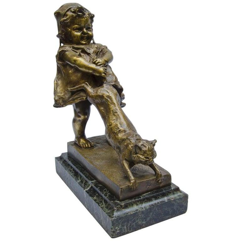 Bronze Juan Clara, Foundry Goldscheider For Sale