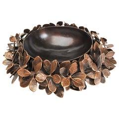 Large handmade Bronze Kathal Leaf Bowl