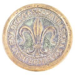 Bronze Key Holder Vide Poche signed Max Le Verrier, Fleur-de-Lis