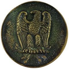 Bronze Key Holder Vide Poche Signed Max Le Verrier, Imperial Eagle