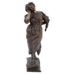 Bronze, la Cantatrice, Signé G. Porente