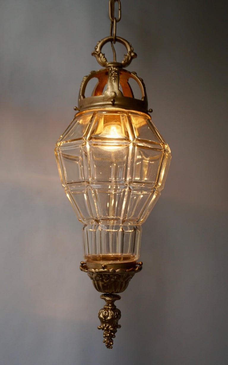 Mid-Century Modern Bronze Lantern For Sale