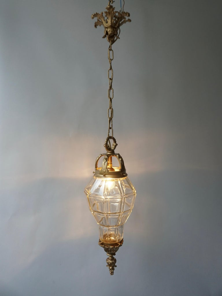 Italian Bronze Lantern For Sale