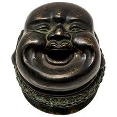 Bronze Laughing Budai Censer