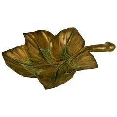 Bronze Leaf Sculpture