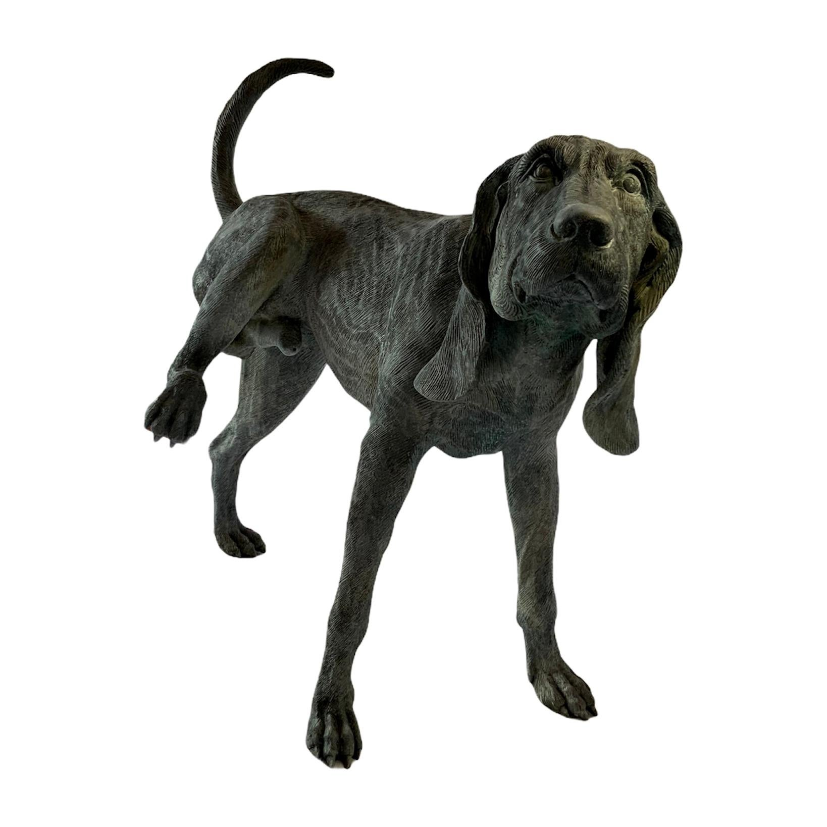 Bronze Life Size Dog Fountain Sculpture