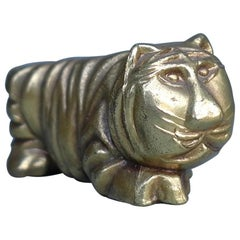 Bronze Lion Abstract Sculpture Figurine, Belgium, 1960s
