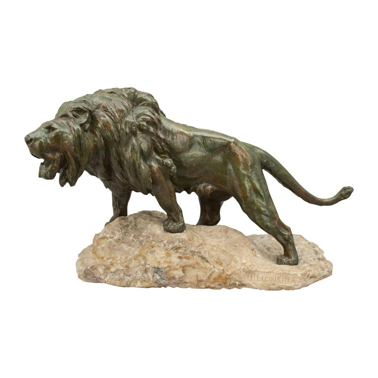 Bronze Lion by Lecourtier
