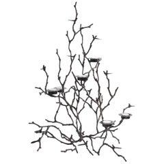 Bronze Magnolia Twigs Candleholder