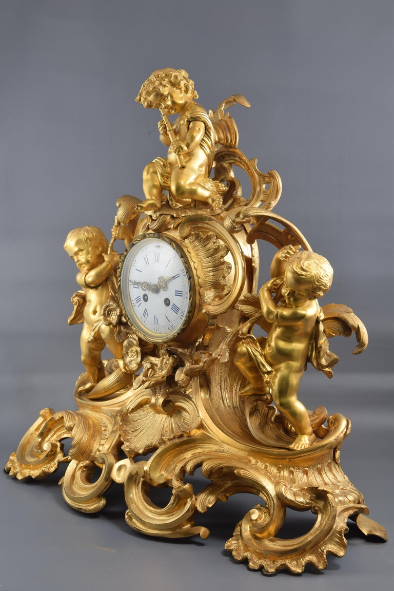 Bronze Mantel Clock, 19th Century 1