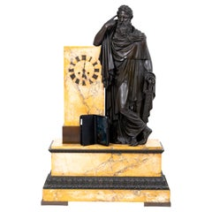 Bronze Mantel Clock, Restauration Period France, Movement Dated 1827