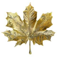 Bronze Maple Leaf Dish