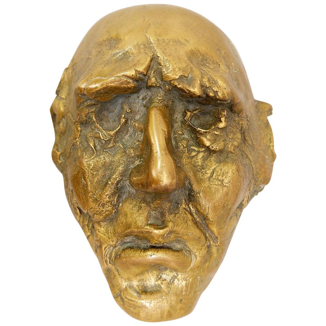 Bronze Mask Sculpture