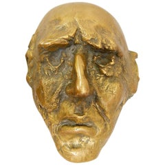 Bronze Mask Sculpture