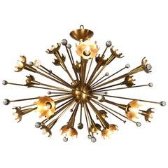 Bronze Mid-Century Modern Sputnik Chandelier by Jonathan Adler