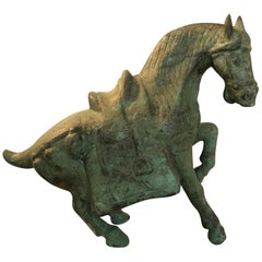 Bronze Ming Dynasty Style Standing Horse Statue