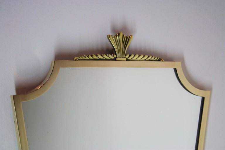 Art Deco Bronze Mirror André Arbus Style, 1940s For Sale