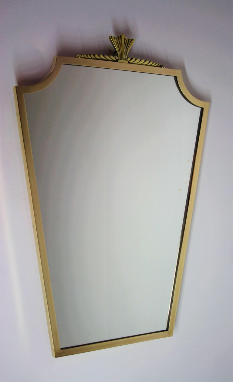 Mid-20th Century Bronze Mirror André Arbus Style, 1940s For Sale
