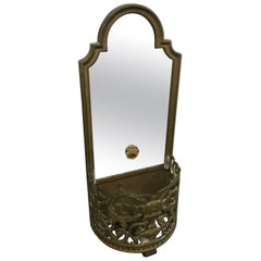 Bronze Mirrored Back Wall Pocket