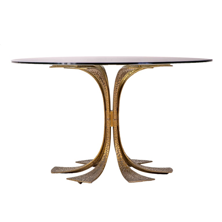 Bronze Modernist Dining Table by Frigerio 5