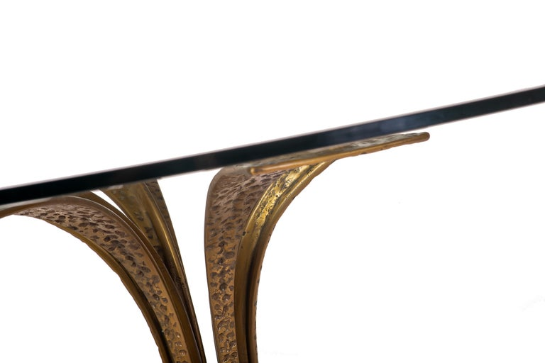 Bronze Modernist Dining Table by Frigerio 7